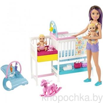 Набор Barbie Няня Скиппер с малышами GFL38
