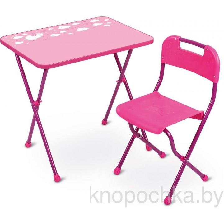 Детский стол и стул Ника КА2 Алина розовый