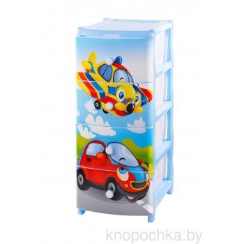 Комод детский пластиковый Самолет ЭльфПласт