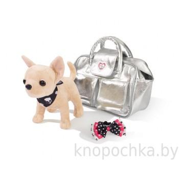 Собачка Chi Chi Love Гламур в серебристой сумочке, 20 см