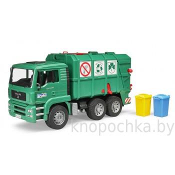 Игрушка Брудер Мусоровоз MAN TGA (зеленый) Bruder 02753