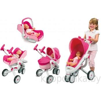 Коляска для куклы 4в1 Maxi-Cosi Quinny Smoby 550389