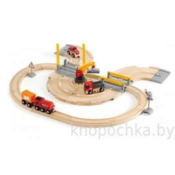 Деревянная железная дорога - Переезд 26 элементов BRIO 33208