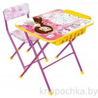 Детский столик и стульчик КУ2П/17 с большим пеналом Принцесса