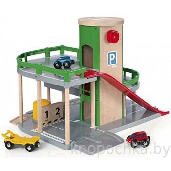 Двухуровневая парковка с лифтом к железной дороге Brio 33204