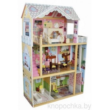 Деревянный кукольный домик с лифтом Lena Wooden Toys