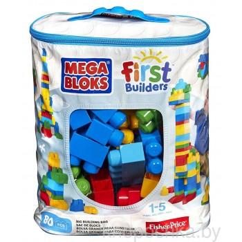 Конструктор Mega Bloks 80 деталей голубой