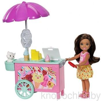Кукла Челси с тележкой мороженого FDB33