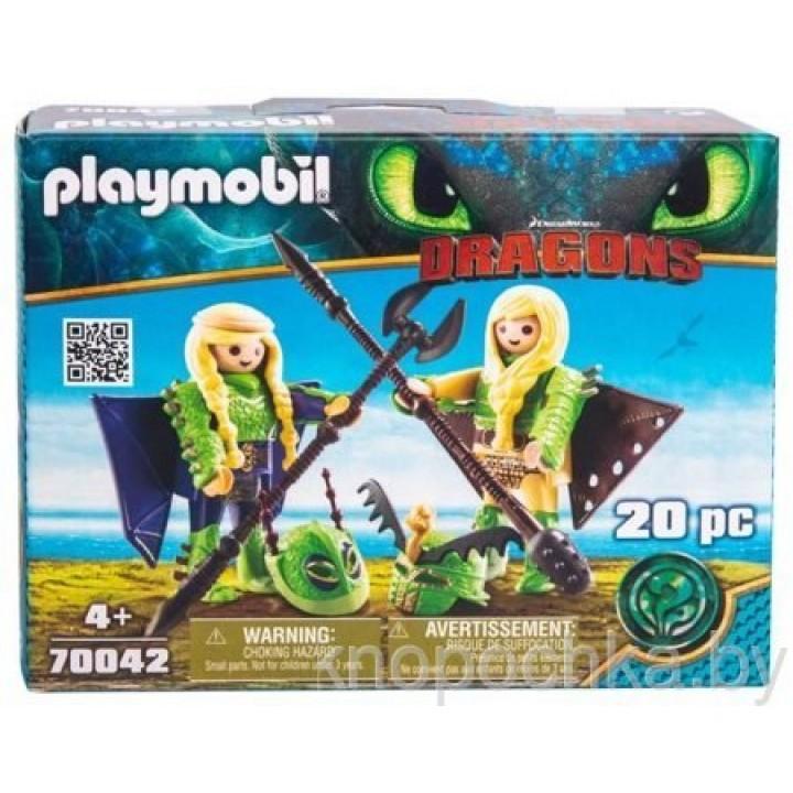 Playmobil 70042 Драконы 3: Забияка и Задирака в летном костюме