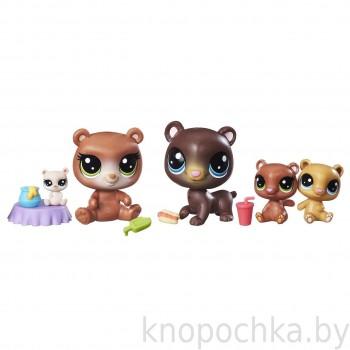 Игровой набор Littlest Pet Shop Дочки-матери Мишки