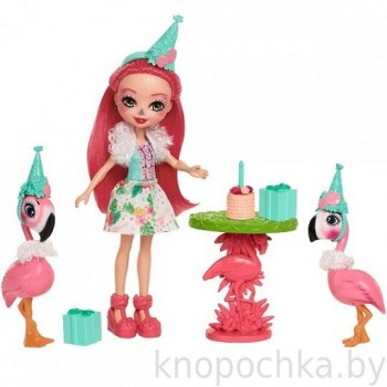 Набор Энчантималс Праздник Фламинго с куклой Фэнси Фламинго