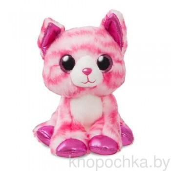 Мягкая игрушка Aurora Розовый котик, 18 см