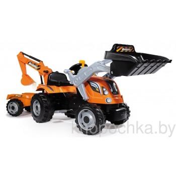 Педальный трактор с прицепом Builder Max Smoby 710110