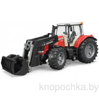 Игрушка Брудер Трактор Massey Ferguson 7600 с погрузчиком Bruder 03047