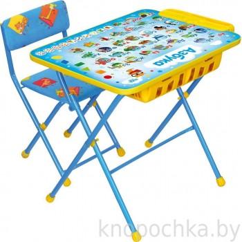 Детский столик и стульчик Ника КУ2П с большим пеналом Азбука