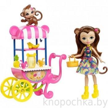 Набор Enchantimals Фруктовая корзинка с куклой Merit Monkey