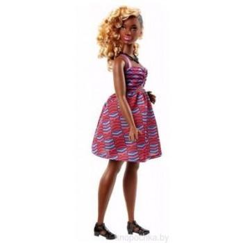 Кукла Barbie Fashionistas Пышная афро-американка DVX79