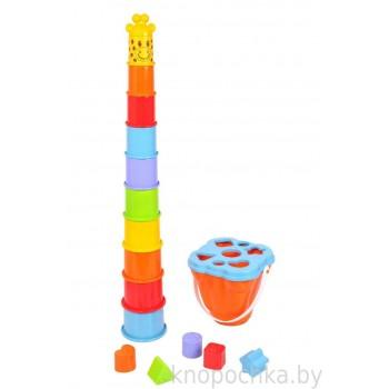 Развивающая игрушка Пирамидка Жираф PlayGo