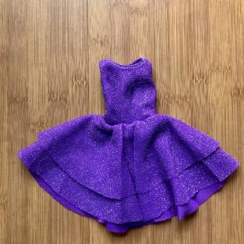 Одежда для Барби Платье фиолетовое с люрексом
