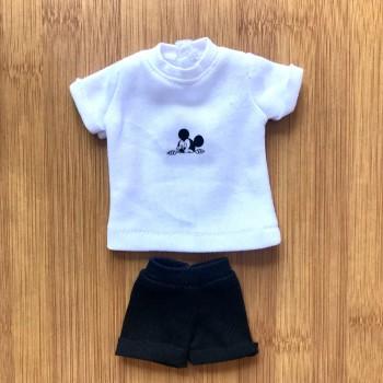 Одежда для Барби Белая майка и черные шорты