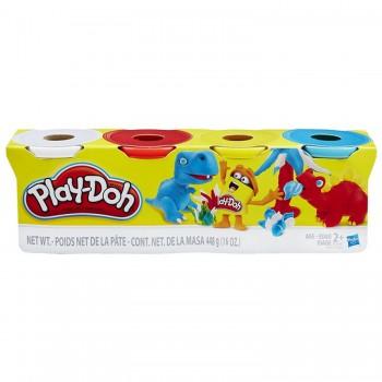 Пластилин Play-Doh 4 баночки в ассортименте B5517