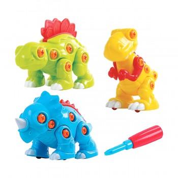 Развивающая игрушка Конструктор Динозавры Playgo 2040