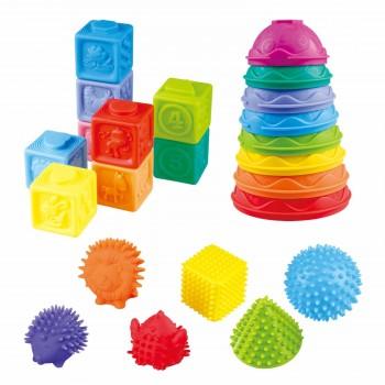 Развивающий набор мягких кубиков, формочек и животных PlayGo 24096