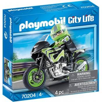 Конструктор Мотоцикл Playmobil 70204