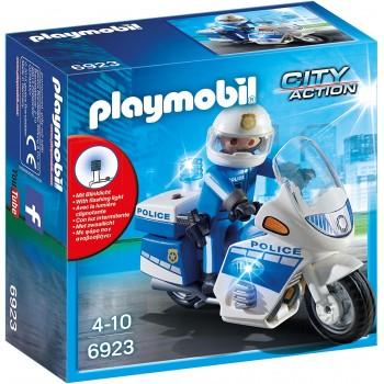 Конструктор Полицейский мотоцикл Playmobil 6923