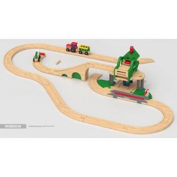 Детская железная дорога Robisun Лесной дворик (40 элементов)
