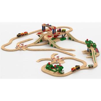 Детская железная дорога Robisun Лесное хозяйство (126 деталей)