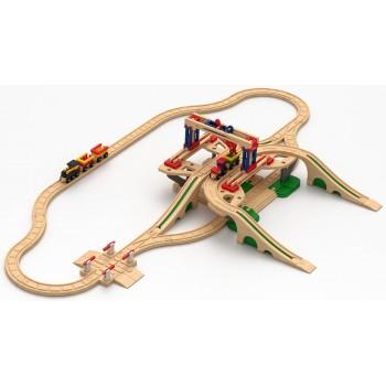 Детская железная дорога Robisun Грузовая станция (64 элемента)