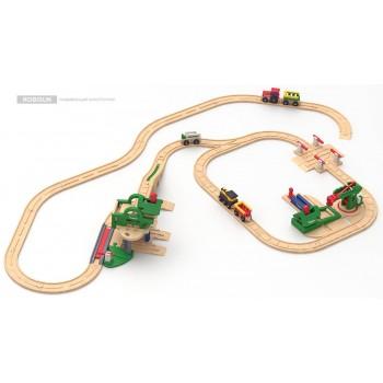 Детская железная дорога Robisun Лесная фабрика (68 элементов)
