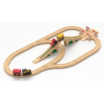 Детская железная дорога Robisun Перекресток (32 элемента)