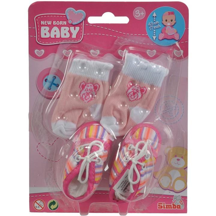 Обувь с носочками для пупса New Born 43 см Simba (4 вида)