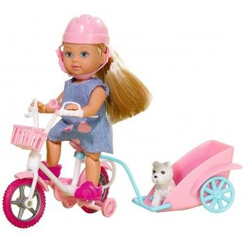 Кукла Эви на велосипеде с собачкой Simba (2 вида)