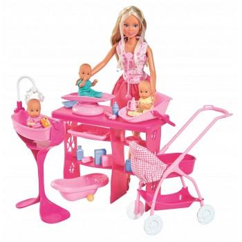Кукла Штеффи с 3 малышами