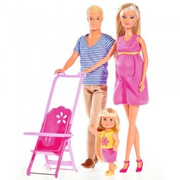 Кукла Штеффи Счастливая семья Simba