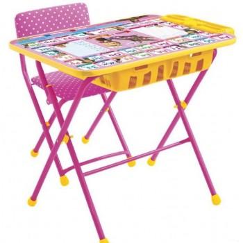 Детский столик и стульчик Ника КУ2П/3 Маша и Медведь с большим пеналом
