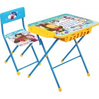 Детский столик и стульчик КУ2П/2 Маша и Медведь с большим пеналом