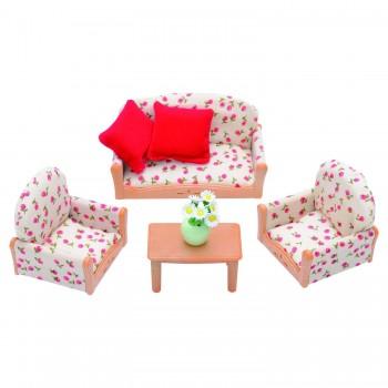 Набор мягкой мебели Sylvanian Families для гостиной 4464
