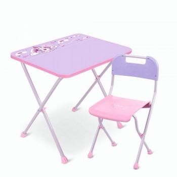 Детский столик и стульчик Ника КА2-М/1 Алина с единорогом