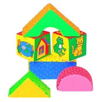 Мягкие кубики Мякиши Домик