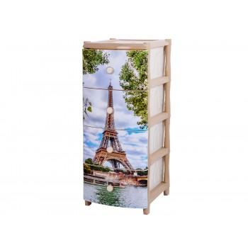 Комод пластиковый Эйфелева башня ЭльфПласт 299