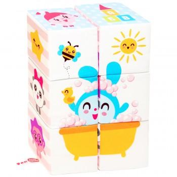 Мягкие кубики Мякиши Малышарики Мультики
