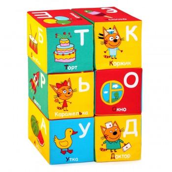 Мягкие кубики Мякиши Три кота Алфавит