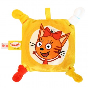 Игрушка грелка с вишневыми косточками Три кота Карамелька Мякиши