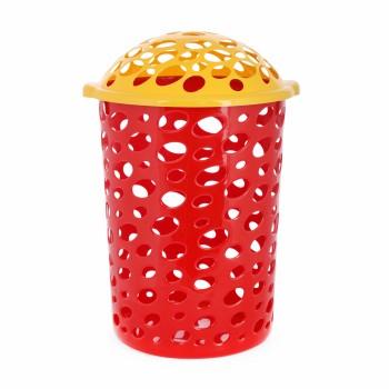 Корзина для игрушек Сорренто с крышкой красная М1885