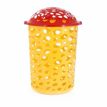 Корзина для игрушек Сорренто с крышкой желтая М1886