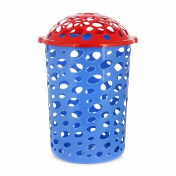 Корзина для игрушек Сорренто с крышкой синяя М1887